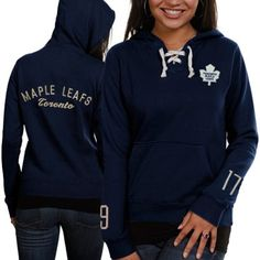 Old Time Hockey Toronto Maple Leafs Ladies Queensboro Lace-Up Pullover Hoodie Sweatshirt – Navy Blue allison xmas? Hockey Outfits, Toronto Photography, Toronto Maple Leafs, Kinds Of Clothes, Cute Sweaters, Hoodies, Sweatshirts, Blue And White, Navy Blue