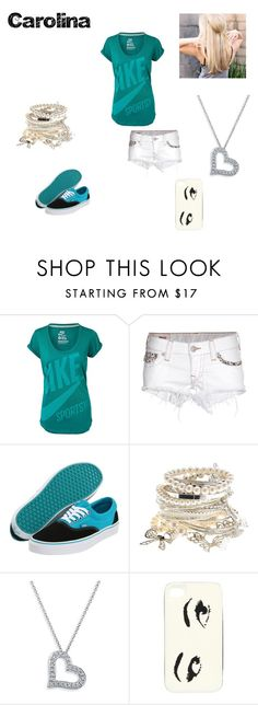 """Roupa"" by erica-santos ❤ liked on Polyvore featuring NIKE, True Religion, Vans, Bony Levy and Kate Spade"