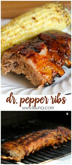 Super simple fall-off-the-bone Dr. Pepper ribs - our new favorite way to make Ribs!! { lilluna.com }