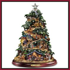 Thomas Kinkade Musical Lighted Nativity Sculpture Christmas Jesus Sculpture NEW . - Thomas Kinkade Musical Lighted Nativity Sculpture Christmas Jesus Sculpture NEW - Christmas Tree Light Up, Tabletop Christmas Tree, Christmas Jesus, Christmas Nativity Scene, Ceramic Christmas Trees, Christmas Villages, Christmas Time, Nativity Scenes, Christmas Plays