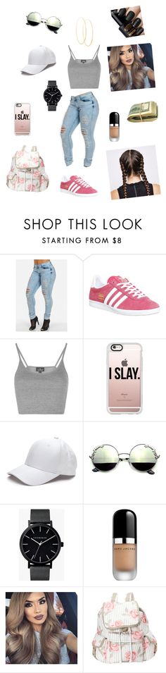 """""""Trap Queen"""" by brynn-gaudet on Polyvore featuring adidas, Topshop, Casetify, The Horse, Marc Jacobs, LeSportsac and Lana"""