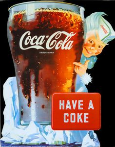 7. Favorite summer beverage all year long! Coca Cola from a bottle over ice in a traditional Coke glass.