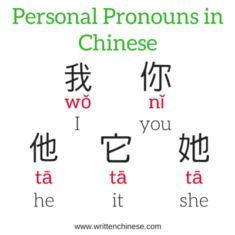 Personal Pronouns in Chinese - singularYou can find Learn chinese and more on our website.Personal Pronouns in Chinese - singular Basic Chinese, How To Speak Chinese, Write In Chinese, Chinese Phrases, Chinese Words, The Words, Chinese Lessons, Spanish Lessons, French Lessons
