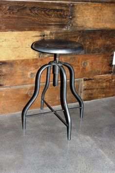 Antique American Cabriole Leg Metal Stool