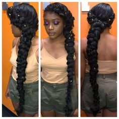 30 Butterfly Braid Styles Butterfly braids are very elegant, making them a popular choice for weddings and special occasions. Take a look at these 30 stunning butterfly braid styles. Ponytail Hairstyles, Weave Hairstyles, Cute Hairstyles, Wedding Hairstyles, Protective Hairstyles, Hairstyle Ideas, Protective Styles, Hairstyle Braid, Gorgeous Hairstyles