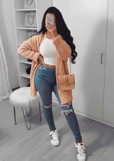 Amazing casual outfits for winter Winter outfits summer outfits winter outfits outfits for school fall outfits trendy outfits WorkOutfit Simple Fall Outfits, Dressy Casual Outfits, Chic Outfits, Trendy Outfits, Girl Outfits, Summer Outfits, Bbq Outfits, Early Fall Outfits, Comfy Fall Outfits