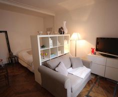 Photo Deco :  Blanc    Studio parisien beige chic