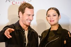 Michael Fassbender and Marion Cotillard attend the 'Assassin's Creed' Berlin Photocall at Cafe Moskau on December 1, 2016 in Berlin, Germany.