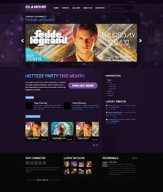 Glamour Nightclub is a Flexible, #Modern and #Dark theme for #bands, #music, #bars and #nightclubs. It is a #WordPress #theme with mobile, popup an...