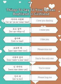 - Korean, Japanese, English — 7 things to say to your Korean girlfriend or. Korean Words Learning, Korean Language Learning, Korean Phrases, Korean Quotes, Cute Korean Words, How To Speak Korean, Learn Korean, I Miss You Korean, Korean Girlfriend