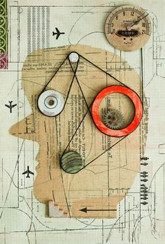 Isidro Ferrer is an illustrator and graphic designer who originally graduated in Drama and Set Design. Kurt Schwitters, Graphic Design Typography, Graphic Design Illustration, Graphic Art, 3d Collage, Mixed Media Collage, Poesia Visual, Collage Techniques, Assemblage Art