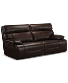 For The Family Room Hannon Leather Power Motion Sofa