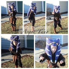 Custom Togruta I made for my son, meet Ahsoka Tano's little brother Argon Tano. My son helped design and pick out fabrics, endured multiple fittings and mommy tweaks to the costume. #StarWars #ThinkGeekoween