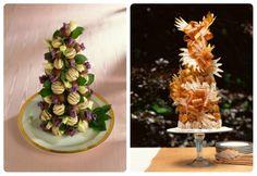 Fabulosos pasteles de bodas inspirados en dulces tradicionales populares: Croque-en-bouche y trufas de chocolate
