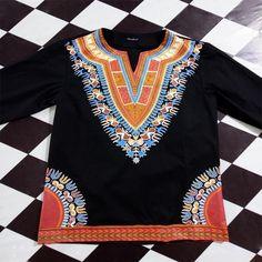 African Men Black Dashiki Slit Neck Collarless Shirt Full Sleeves Cotton Pullover Tee Tribal Shirt Cool Hippie Top For Men Long Sleeve And Shorts, Long Sleeve Tops, Tribal Shirt, Mens Cotton T Shirts, African Dashiki, Hippie Tops, African Style, African Men, African Attire
