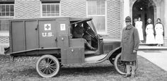 The ambulance version of the Model-T was great for the muddy gnarly roads of combat. The lightweight build allowed for a group of soldiers to easily pull the ambulance from a ditch if needed. The low cost and ease of repair was essential in war time.