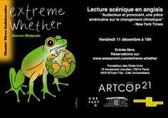 COP21 : Lecture scénique « Extreme Whether » suivie d'un débat