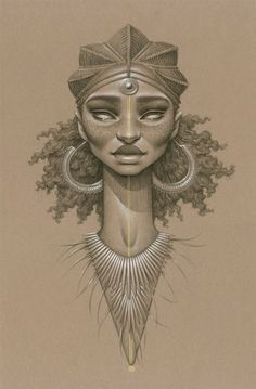 Fictional Sun Goddesses in Africa, Beautifully Illustrated by Sara Golish - What an ART