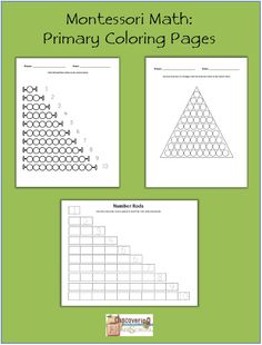 Montessori Math: Primary Coloring Pages - Discovering Homeschool |  | Math | FreeCurrClick