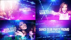 Dance Club Party Promo Videohive After Effects Template