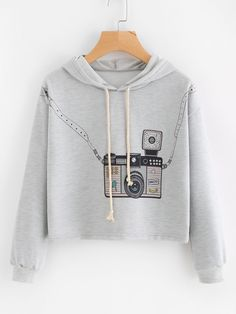 Shop Hooded Drawstring Graphic Print Sweatshirt online. SheIn offers Hooded Drawstring Graphic Print Sweatshirt & more to fit your fashionable needs.