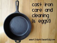 cast iron seasoning care and cleaning