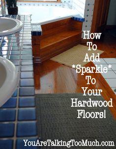 Use Windex Multi-Surface Cleaner to make hardwood floors and ceramic tile *sparkle* ...