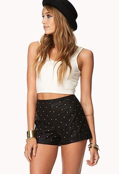 OMG how cute are these? Faux Leather shorts.