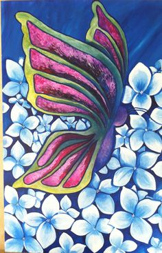 24x30x2 wrapped canvas.  Beatuful Butterfly. Great by ArtByDoodles, $185.00