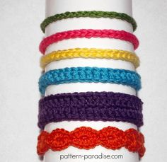 Baby Headbands ~ easy level ~ finished size newborn to 12 mos. ~ FREE - CROCHET