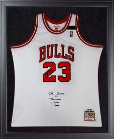 "MICHAEL JORDAN Signed 1992 Bulls ""The Shrug"" Authentic Framed Jersey LE of 23 UDA."