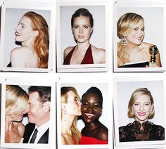 Backstage Polaroids of the 2014 Golden Globes. #fashion #jewelry #golden globes