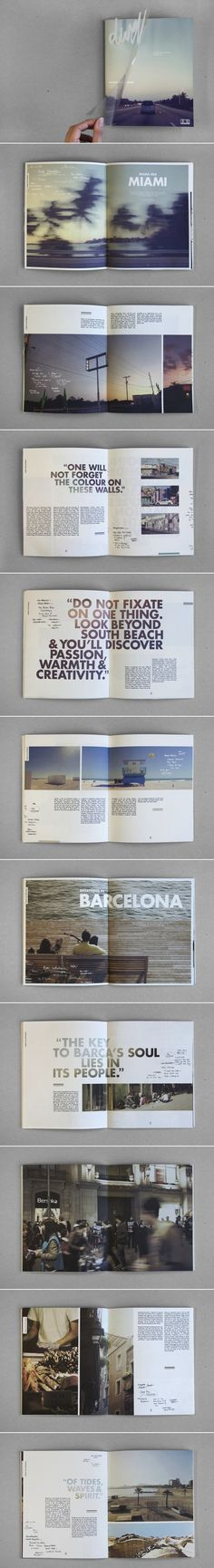 Graphic design for 'Dwell - Coastal Cities Revisited' by Sidney Lim YX // Editorial design inspiration // Book binding techniques, design, art, graphic design, publication design Design Brochure, Booklet Design, Graphic Design Layouts, Graphic Design Inspiration, Layout Design, Portfolio Design, Portfolio Layout, Portfolio Book, Mises En Page Design Graphique