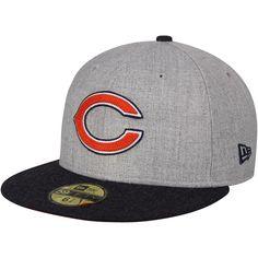 99b0f62cb Men s Chicago Bears New Era Heathered Gray Crisp 2 Fitted Hat. NFL Caps    Hats