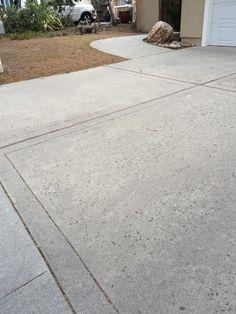 rock salt finish concrete driveway 106 landscape makeover pinterest more concrete. Black Bedroom Furniture Sets. Home Design Ideas