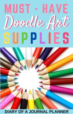 The supplies and stationery you need to have in your collection to create incredible doodle art! #doodleart #doodle #stationery #artsupplies #bulletjournalsupplies Cool Doodles, Kawaii Doodles, Simple Doodles, Bullet Journal Art, Art Journal Pages, Doodle Drawings, Doodle Art, Best Drawing Pens, Dandelion Drawing