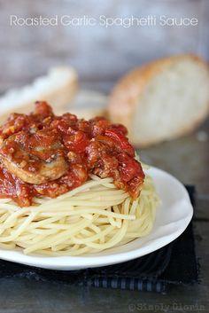 Roasted Garlic Spaghetti Sauce