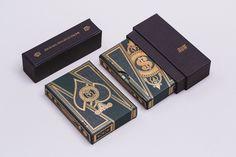 Custom designed playing cards deck for Murphy's magic Packaging Design, Branding Design, Luxury Packaging, Playing Card Box, Magic Tattoo, Paint Cards, Communication Art, Box Design, Deck Design