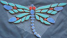 Mosaike auf Netz: Mosaik: Libelle