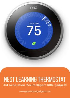 The Nest Learning Thermostat Generation is an elegant, adaptive and smart thermostat which has virtually no major shortcomings. Heating And Cooling Units, Learning Ability, Interesting Conversation, Nest Thermostat, Save Energy, Smartphone, Gadgets, Told You So, Gadget