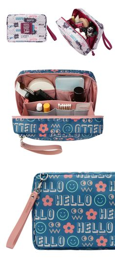 Your next trip will be much more enjoyable with the Large Journey Organizer Pouch! This pouch has a cool and stylish design, and two zipper pulls to open the main compartment. The main compartment has a divider and many pockets in various size to carry and organize your items with ease! This pouch will be perfect for neatly organizing your belongings on your travel! Organizing, Organization, Explore Travel, Zipper Pulls, Adventure Is Out There, Travel Style, Traveling By Yourself, Gym Bag, Sewing Crafts