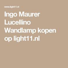 Ingo Maurer Lucellino Wandlamp kopen op light11.nl