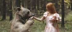 Katerina Plotnikova is a young Moscow-based fine art photographer who brings animals and humans together in her spiritual and magical photography. Her fairy-tale-inspired works recreate the long-lost or long-forgotten bond between animals and humans..