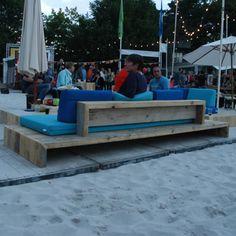 Loungebank 'Trezart' in gebruikt baddingenhout 1