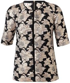 ShopStyle: Marni Cotton floral brocade top