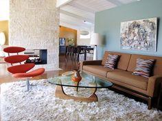 1953 Cliff May Mid-Century Modern home, Long Beach, California - Living Room