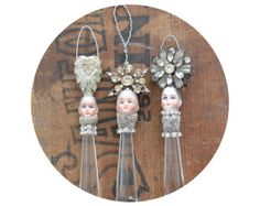 chandelier crystal ornament pixie ornament by ElizabethRosenArt