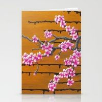 October Cherry Blossoms Stationery Cards