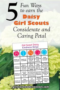 5 Fun Daisy Girl Scout Considerate and Caring Petal Ideas