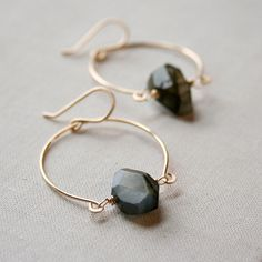 Hinged Labradorite Earrings- labradorite, goldfill.